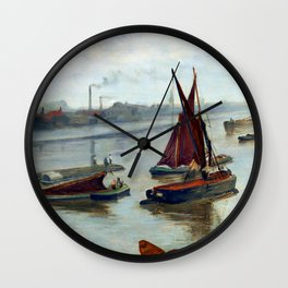 James McNeil Whisler Grey and Silver, Old Battersea Reach Wall Clock