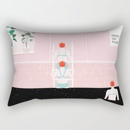 out of the stars pool Rectangular Pillow