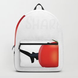 Shark Sharkmato Shark Tomato Funny Shark Lover Gift Backpack