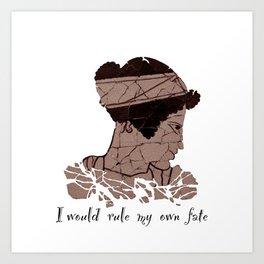 I Would Rule my Own Fate - Helen of Sparta Art Print