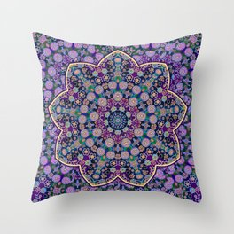 The Purple touch Throw Pillow
