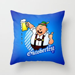 Oktoberfest - man in lederhosen Throw Pillow