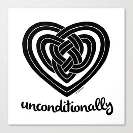 UNCONDITIONALLY in black Canvas Print