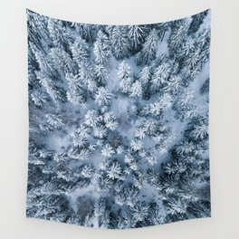 Winter Pine Forest Wall Tapestry