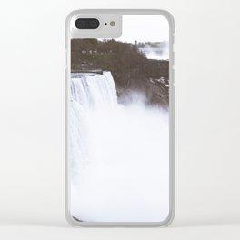 Niagra Falls on film Clear iPhone Case