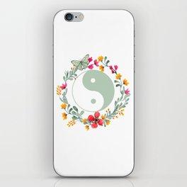 Floral Yin Yang iPhone Skin