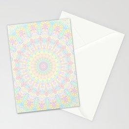 Pastel Rainbow Kaleidoscope 2 Stationery Cards