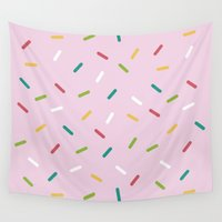 donut Wall Tapestries featuring Donut by According to Panda