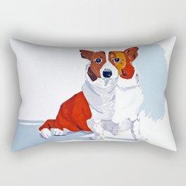 Corgi Dog Portrait Rectangular Pillow