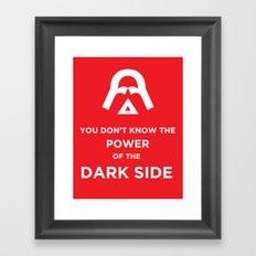 The Power of the Dark Side Framed Art Print