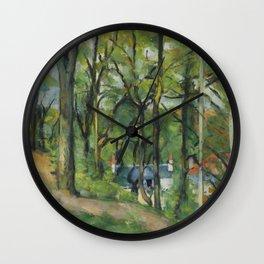 """Paul Cezanne """"The Orchard. La côte Saint-Denis à Pontoise"""" Wall Clock"""