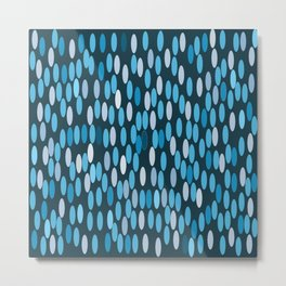 Blue blobs Metal Print