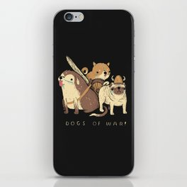 the dogs of war iPhone Skin