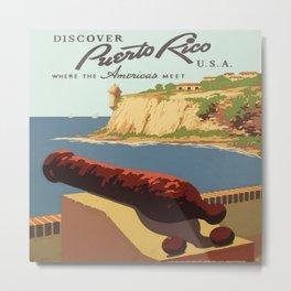 Vintage poster - Puerto Rico Metal Print