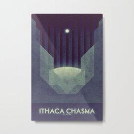 Tethys - Ithaca Chasma Metal Print