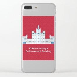 Kotelnicheskaya emban Clear iPhone Case