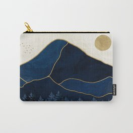 Mt Hood Sapphire Blue Wilderness Carry-All Pouch