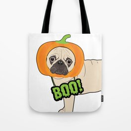 Halloween pumpkin pug Tote Bag