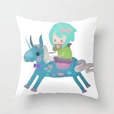 PonyCorn/w Throw Pillow