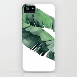 Tropical Island Leaves Pair iPhone Case
