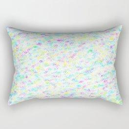 Colorful Pixels & Subtle Stars Rectangular Pillow