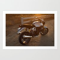 ducati Art Prints featuring Ducati 003 by Austin Winchell