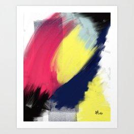 Magenta Breakthrough Art Print