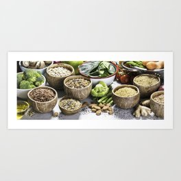 Healthy food Art Print