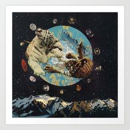 Tigers in Space Art Print