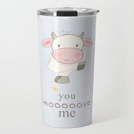 You Move me art print, cow print, art for kids, art for baby, kids room decor, cute art for kids Travel Mug