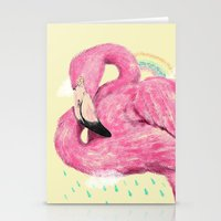 flamingo Stationery Cards featuring Flamingo by dogooder