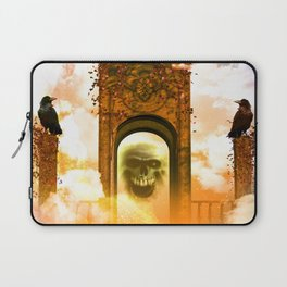 Skull and crows Laptop Sleeve