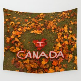 I Love Canada (Heart of Autumn) Wall Tapestry
