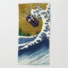 TARDIS GREAT WAVE Beach Towel