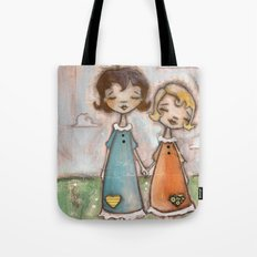 A Childhood Shared - Sister Art Tote Bag