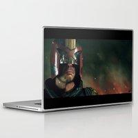ed sheeran Laptop & iPad Skins featuring Dredd[ed] by Mel Hampson