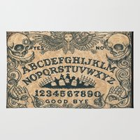 ouija Area & Throw Rugs featuring Ouija Board by ShayneoftheDead