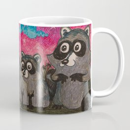 Raccoon Family Coffee Mug