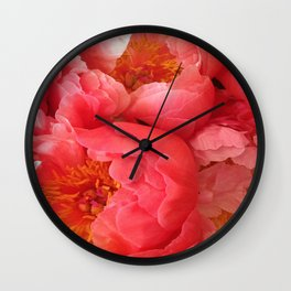 "Pink Camellias ""Angels Flowers"" Wall Clock"