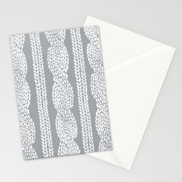 Cable Grey Stationery Cards