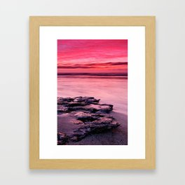 Pink colored sky Framed Art Print