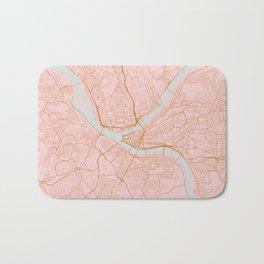 Pittsburgh map, Pennsylvania Bath Mat