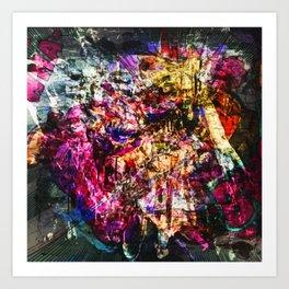 Abstract Blam Art Print