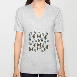 Butterflies Pattern Unisex V-Neck