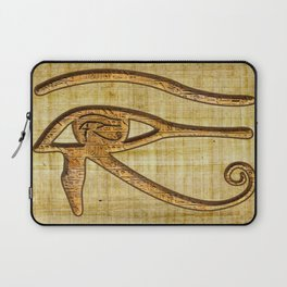 The Wadjet - Ancient Egyptian Eye of Horus Laptop Sleeve