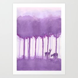 a forest Art Print