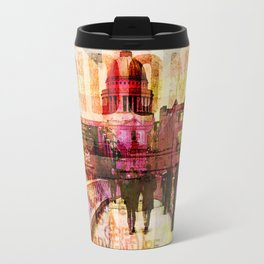 London St. Pauls Cathedral modern illustration typography Travel Mug