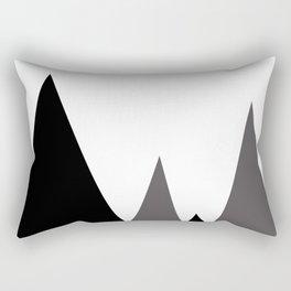 Geometric landscape Rectangular Pillow