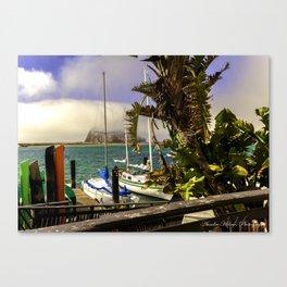 Tropical Morro Bay Canvas Print