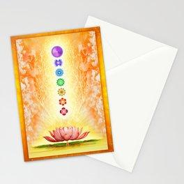 Sacred Lotus - The Seven Chakras .I Stationery Cards